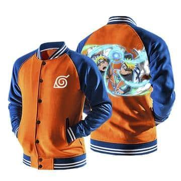 Naruto Uzumaki Strong Odama Rasengan Orange Baseball Jacket