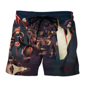 Naruto Akatsuki Brutal Villain Group Cute Art Style Shorts