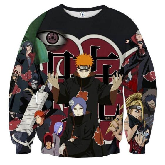 Naruto Akatsuki Evil Mercenary Ninja Group Print Sweatshirt