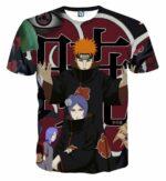 Naruto Akatsuki Evil Mercenary Ninja Group Print T-Shirt