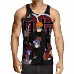 Naruto Akatsuki Evil Mercenary Ninja Group Print Tank Top