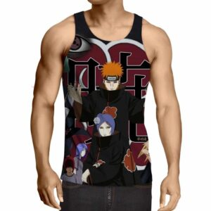Naruto Akatsuki Evil Mercenary Ninja Group Print Tank Top