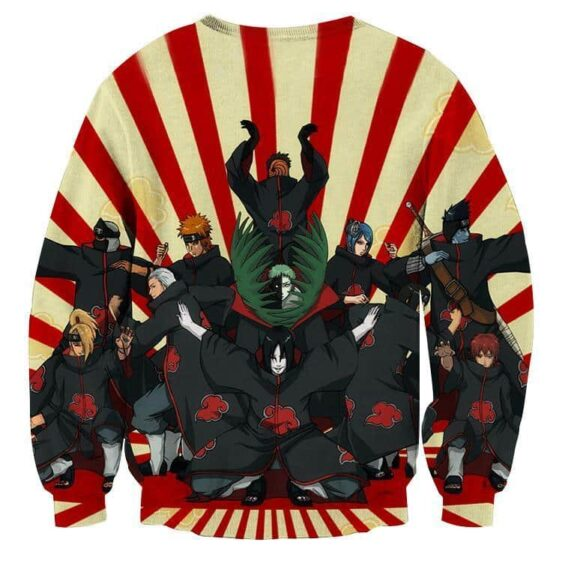 Naruto Akatsuki Funny Group Pose Design Anime Sweatshirt