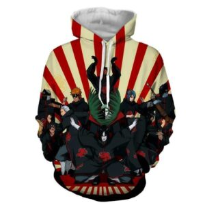 Naruto Akatsuki Funny Group Pose Design Anime Theme Hoodie