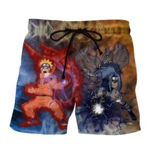 Naruto And Sasuke Epic Fight Japan Awesome Style Shorts