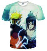 Naruto And Sasuke Japan Anime Awesome Fan Art Cool T-Shirt