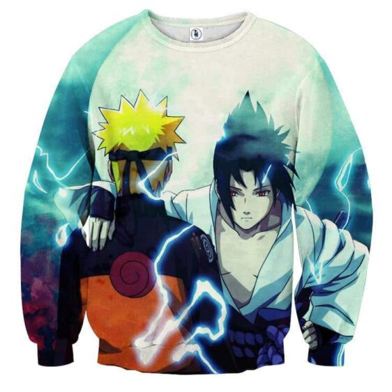 Naruto And Sasuke Japan Anime Awesome Fan Art Sweatshirt