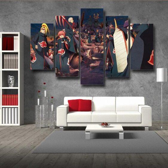 Naruto Anime Akatsuki Clan Revival Scary 5pcs Wall Art Decor