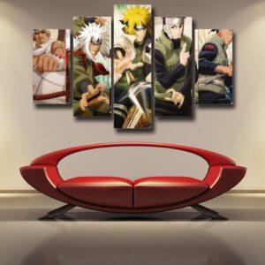 Naruto Anime Killer Bee Jiraiya Minato Iruka 5pcs Wall Art