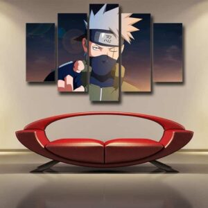 Naruto Anime Shinobi War Third Division Commander 5pcs Canvas
