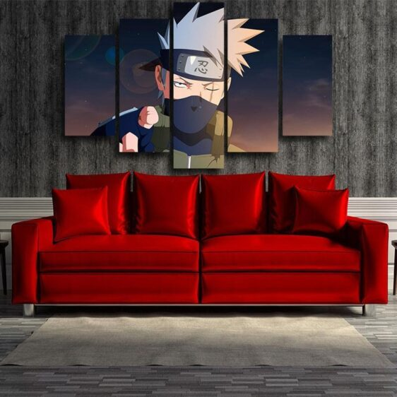 Naruto Anime Shinobi War Third Division Commander 5pcs Canvas