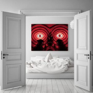Naruto Anime Uchiha Clan Sharingan Fire Ninjutsu 1pc Canvas