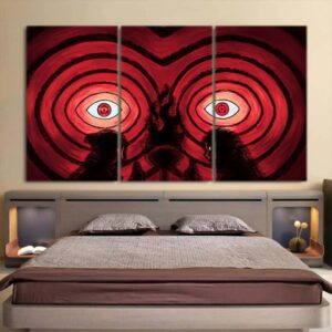 Naruto Anime Uchiha Clan Sharingan Fire Ninjutsu 3pcs Canvas