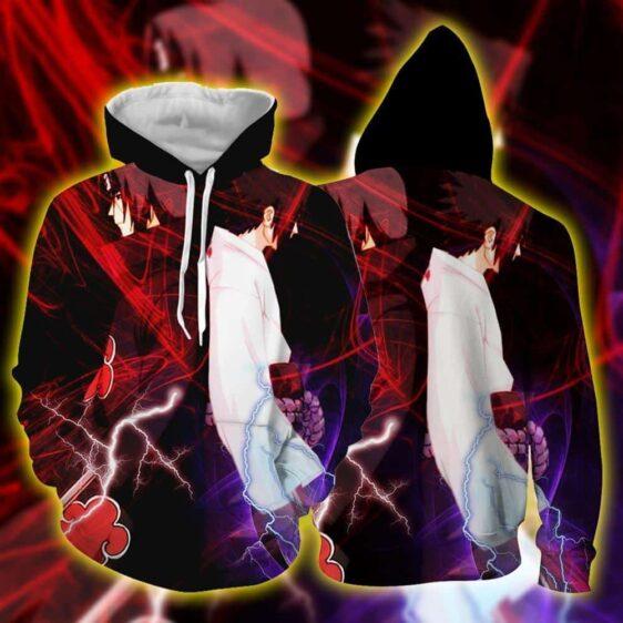 Naruto Anime Uchiha Itachi And Sasuke Back To Back Hoodie