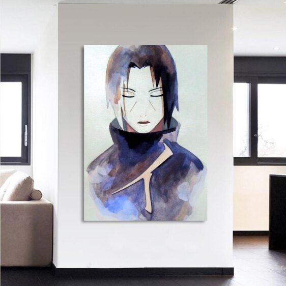 Naruto Anime Uchiha Itachi Painting Portrait 1pc Wall Art