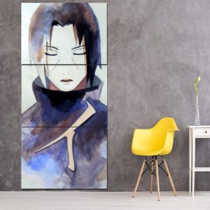 Naruto Anime Uchiha Itachi Painting Portrait 3pcs Wall Art