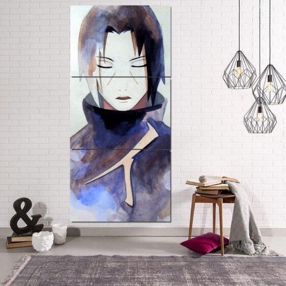 Naruto Anime Uchiha Itachi Painting Portrait 3pcs Wall Art