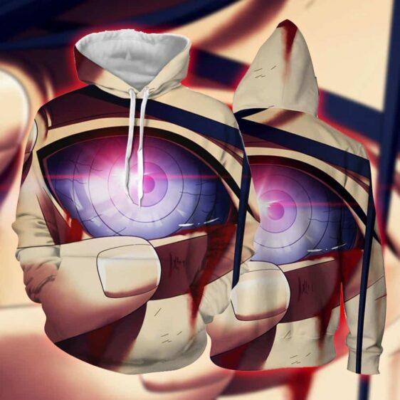 Naruto Anime Uchiha Madara Activating Rinnegan Eye Hoodie