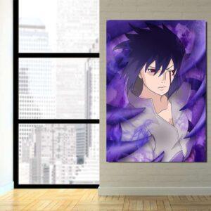 Naruto Anime Uchiha Sasuke Bleeding Eyes Susanoo 1pc Canvas