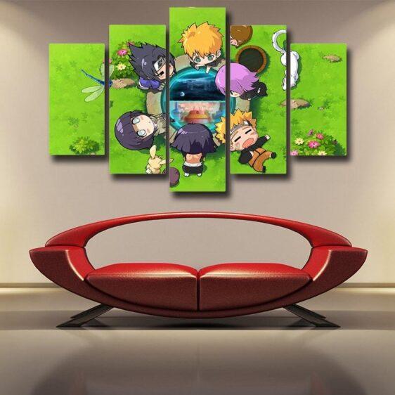 Naruto Character Cute Chibi Style 5pcs Wall Art Canvas Print
