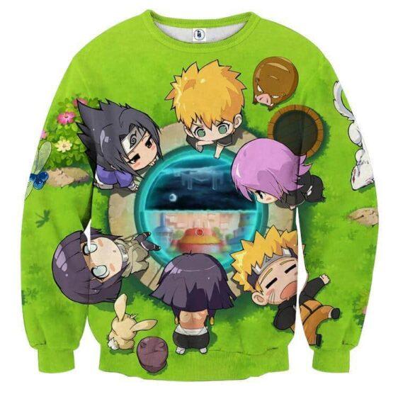 Naruto Character Cute Chibi Style Full Print Sweatshirt