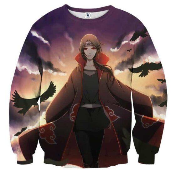 Naruto Female Itachi Fan Art Design Akatsuki Dope Sweatshirt