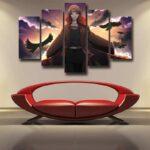 Naruto Female Itachi Fanart Design Akatsuki Dope 5pcs Canvas