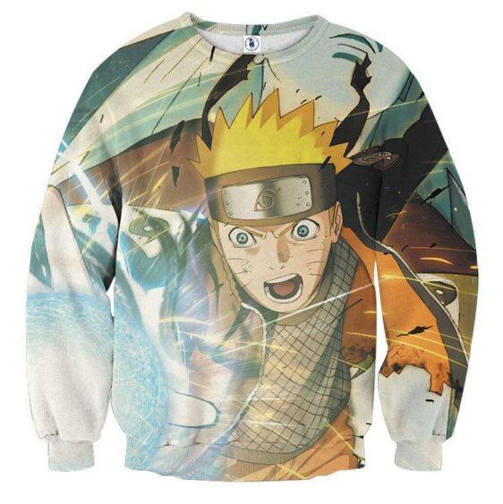 Naruto Fight Kaguya Rasengan Streetwear Design Sweatshirt