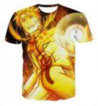 Naruto Golden Aura Rasengan Powerful Skill Fighting for Justice T-shirt