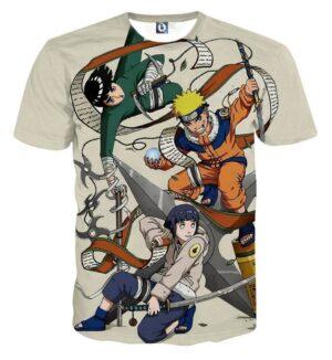 Naruto Hinata Lee Ninja Style Pose Dope Art Basic T-Shirt