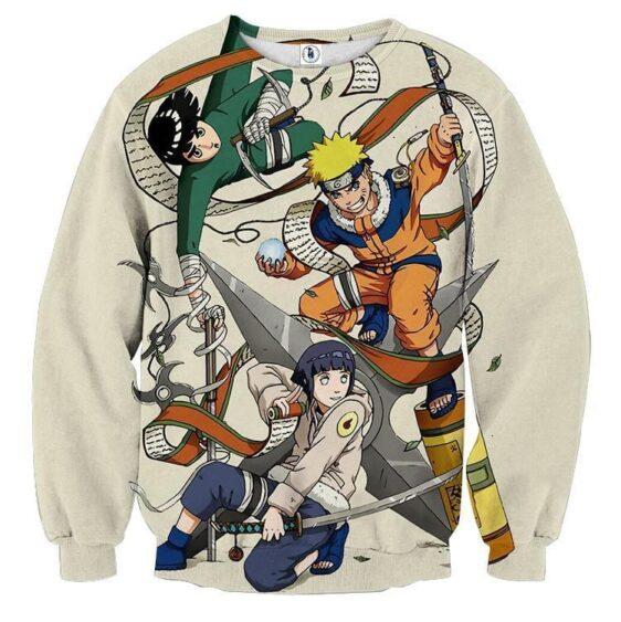 Naruto Hinata Lee Ninja Style Pose Dope Art Sweatshirt