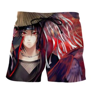 Naruto Itachi Deserted Ninja Akatsuki Art Work Summer Shorts
