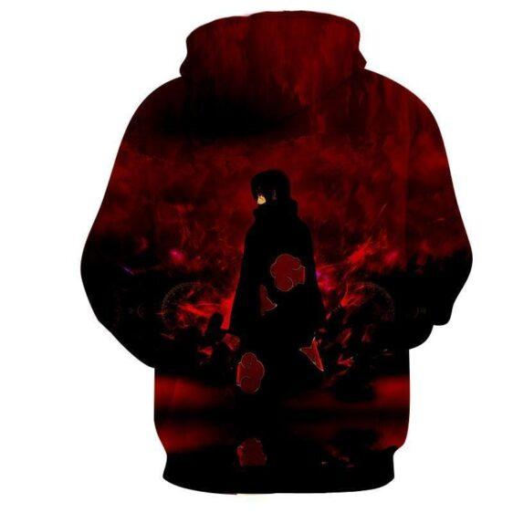 Naruto Itachi Uchiha Akatsuki Ninja Anime Style Hoodie