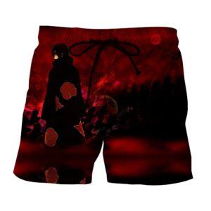 Naruto Itachi Uchiha Akatsuki Ninja Magic Style Dope Shorts