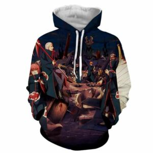 Naruto Japan Anime Akatsuki Revival Scary Full Print Hoodie