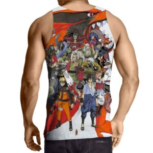 Naruto Japan Anime Cover All Characters Amazing Cool Tank Top