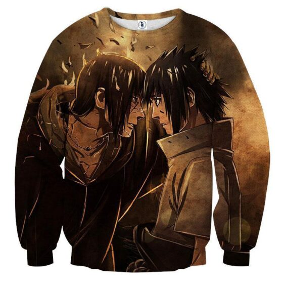 Naruto Japan Anime Itachi And Sasuke Fight Anime Sweatshirt