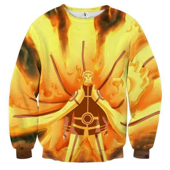 Naruto Japan Anime Sage Mode Flaming Streetwear Sweatshirt