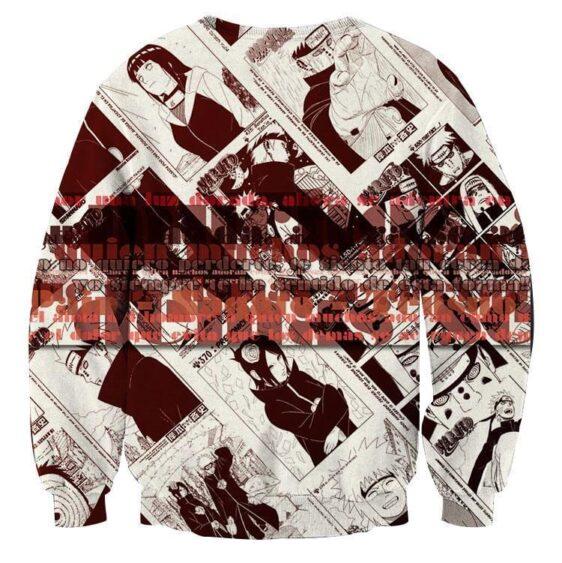 Naruto Japan Manga White Black Style Streetwear Sweatshirt