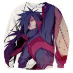Naruto Japanese Anime Madara Uchiha Fan Art Print Sweatshirt