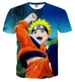 Naruto Kid Japan Anime Fan Art Full Print Amazing T-Shirt