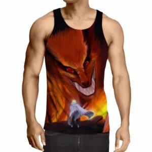 Naruto Kurama Fire Monster Fox Fan Art Dope Anime Tank Top