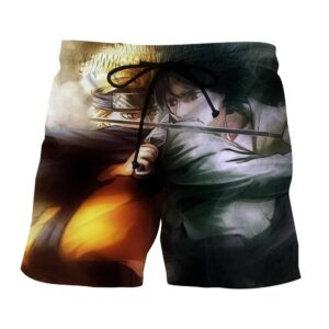 Naruto Madara Uchiha Epic Fight Villain Dope Summer Shorts