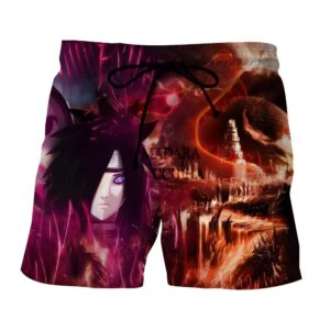 Naruto Madara Uchiha Epic Style Villain Dope Summer Shorts