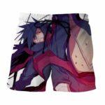 Naruto Madara Uchiha Realistic Full Print Anime Shorts