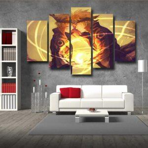 Naruto Minato Father Son Rasengan Fan Art Cool 5pcs Wall Art