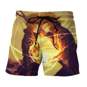 Naruto Minato Father Son Rasengan Fan Art Cool Shorts