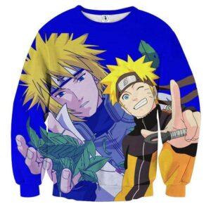 Naruto Minato Like Father Like Son Cool Manga Sweatshirt