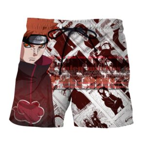 Naruto Pain Nagato Comic Pattern Anime Theme Design Shorts
