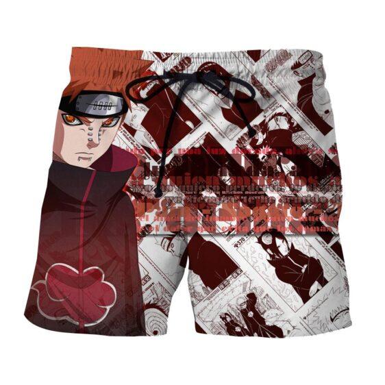 Naruto Pain Nagato Comic Pattern Anime Theme Design Shorts